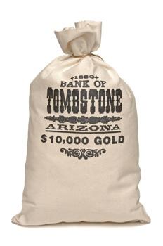 Tombstone Money Bag