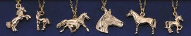 Gold Horse Necklace Assortment - 12 per Display Unit