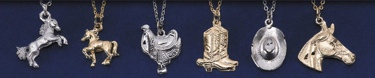 Gold & Silver Horse & Western Necklace Unit