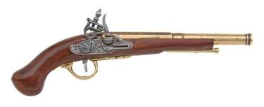English Flintlock Pistol Non Firing Replica Gun
