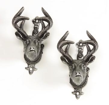 Deer Head Gun Hangers Gray Finish