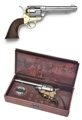 M1873 Western Army Pistol Nickel And Brass Finish Non Firing Replica Gun