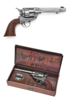 M1873 Western Army Pistol Antique Gray Finish Non Firing Replica Gun