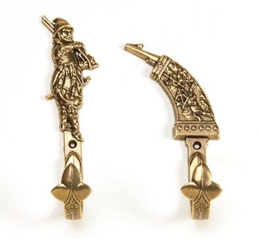 Medieval Sword Hangers With Brass Finsh