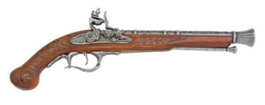 Deluxe Flintlock Pistol Non Firing Replica Gun