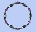 Magnetic Hematite Bracelet AMETHYST (violet)