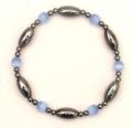 Magnetic Hematite Bracelet LIGHT BLUE