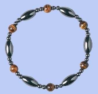 Magnetic Hematite Bracelet TIGERS EYE (brown)
