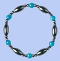 Magnetic Hematite Bracelet TURQUOISE