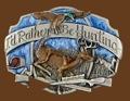 Id rather be hunting belt buckle 3-1/8 x 2-1/4