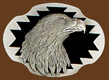 Eagle Head Belt Buckle 3-1/8 x 2-1/4