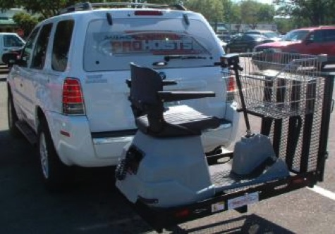 Hitch-Mount Wheelchair Carrier and Ramp