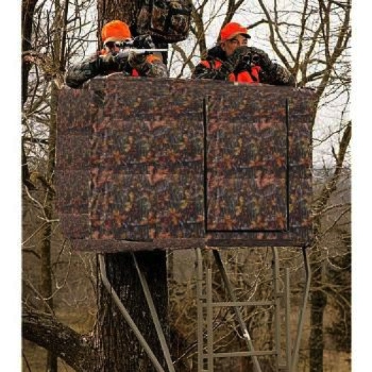 Camo Blind For 2 Man Ladder Tree Stand Hunting Equipment