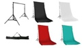Muslin Set with Stand Black/White/Red/Chroma 10x20