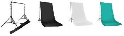 Muslin Set with Stand Black/White/Chroma 10x20