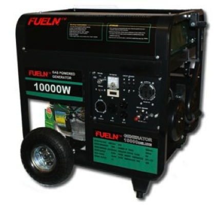 10000/8500 Watt Portable Quiet 16 HP Gas Generator w ELECTRIC START