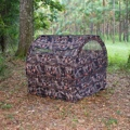 Hunting Blind Camo Ground Hay Bail