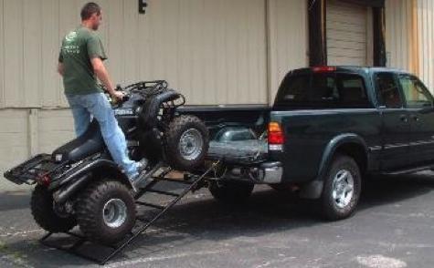 Folding Pair Motorycle Loading Ramps ATV Lawnmower Tractor