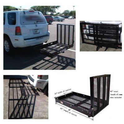 Extra Large Wheelchair Scooter Carrier Ramp Rack Trailer Hitch Mount