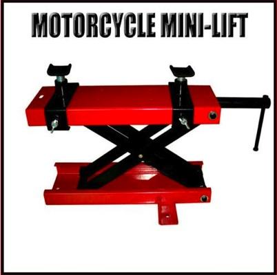 Motorcycle  Jack Repair Lift  Floor Mount 1100lb