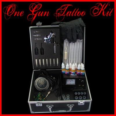 1 Gun Machine Tattoo Kit