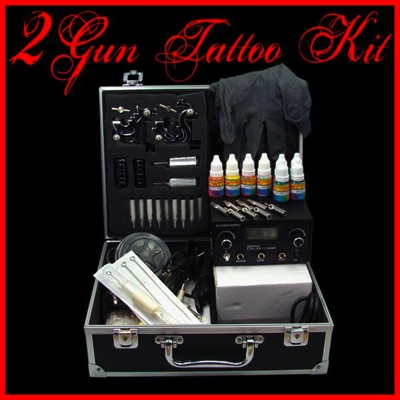 2 Gun Machine Tattoo Kit
