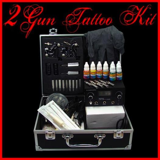 2 Gun Machine Tattoo Kit, Tattoo Studio Equipment, AHI_682 From ...