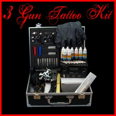 3 Gun Tattoo Machine Kit