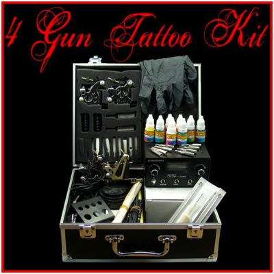 4 Gun Tattoo Kit