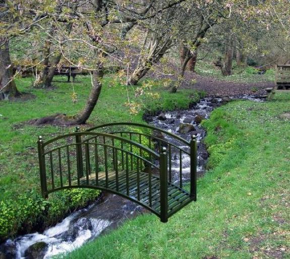 Metal Garden Pond Decorative Bridge