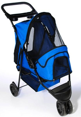 Pet Stroller: Blue Pet Stroller For Dogs