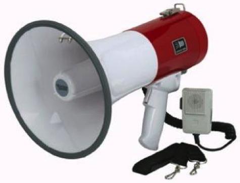 Loud Megaphone Bullhorn 50 Watt Siren Police Outdoor Security