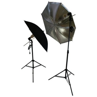 2 Flash Umbrella Setup Kit Studio Photography Lighting