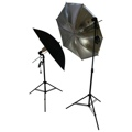 2 Flash Umbrella Setup Kit Studio Photography Lighting
