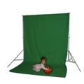 Muslin Set with Stand Chroma Green 10x20