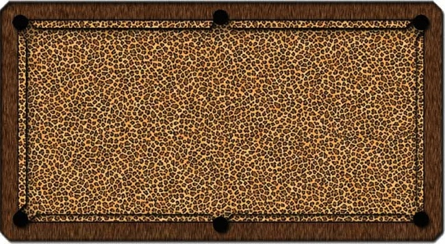 ArtScape 7 Foot Leopard Pool Table Cloth, ArtScape Billiard Table ...