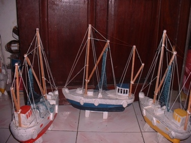 Fishing Boat Yellow Coastal 20 Hand Carved Coastal Decor