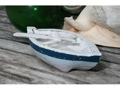 Nautical Boat W Paddle Blue Coastal 8 Hand Carved Coastal Decor