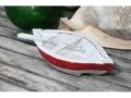 Nautical Boat W Paddle Red Coastal 8 Hand Carved Coastal Decor