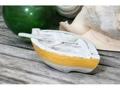 Nautical Boat W Paddle Yellow Coastal 8 Hand Carved Coastal Decor