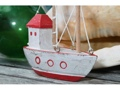 Boat House Red Coastal 6 Hand Carved Coastal Decor