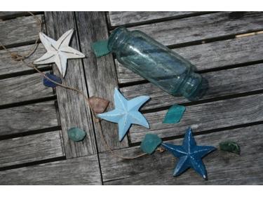 Hanging Starfish Set Of 3 Blue Coastal Coastal Decor