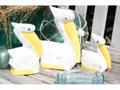 Pelican Set Of 3 Yellow Coastal Beach Decor