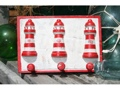 Lighthouse Hanger Rustic Red Nautical 12 Nautical Decor