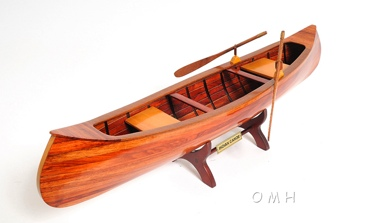 Indian Girl Canoe OMH Handcrafted Model