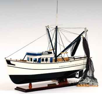 Shrimp Boat OMH Handcrafted Model