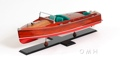 Chris Craft Runabout Painted OMH Handcrafted Model