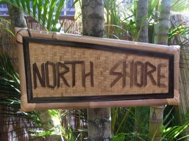 Bamboo Tiki Sign North Shore Hawaiian Gifts