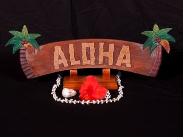 Welcome Sign Aloha W Palm Trees Tiki Bar Decor