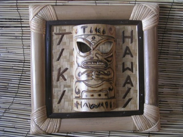 Bamboo Tiki Sign Tiki Hawaii W Bamboo Tiki Mask Tiki Bar Decor